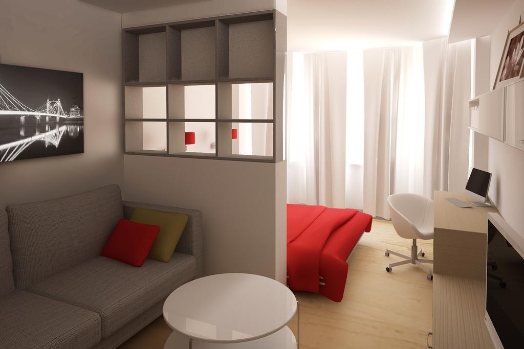 Способы разделения комнаты на две зоны, узнайте как можно ра.