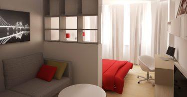 Разделении комнаты